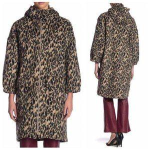 TOV Los Angeles Brown Cheetah Faux Jacket Coat